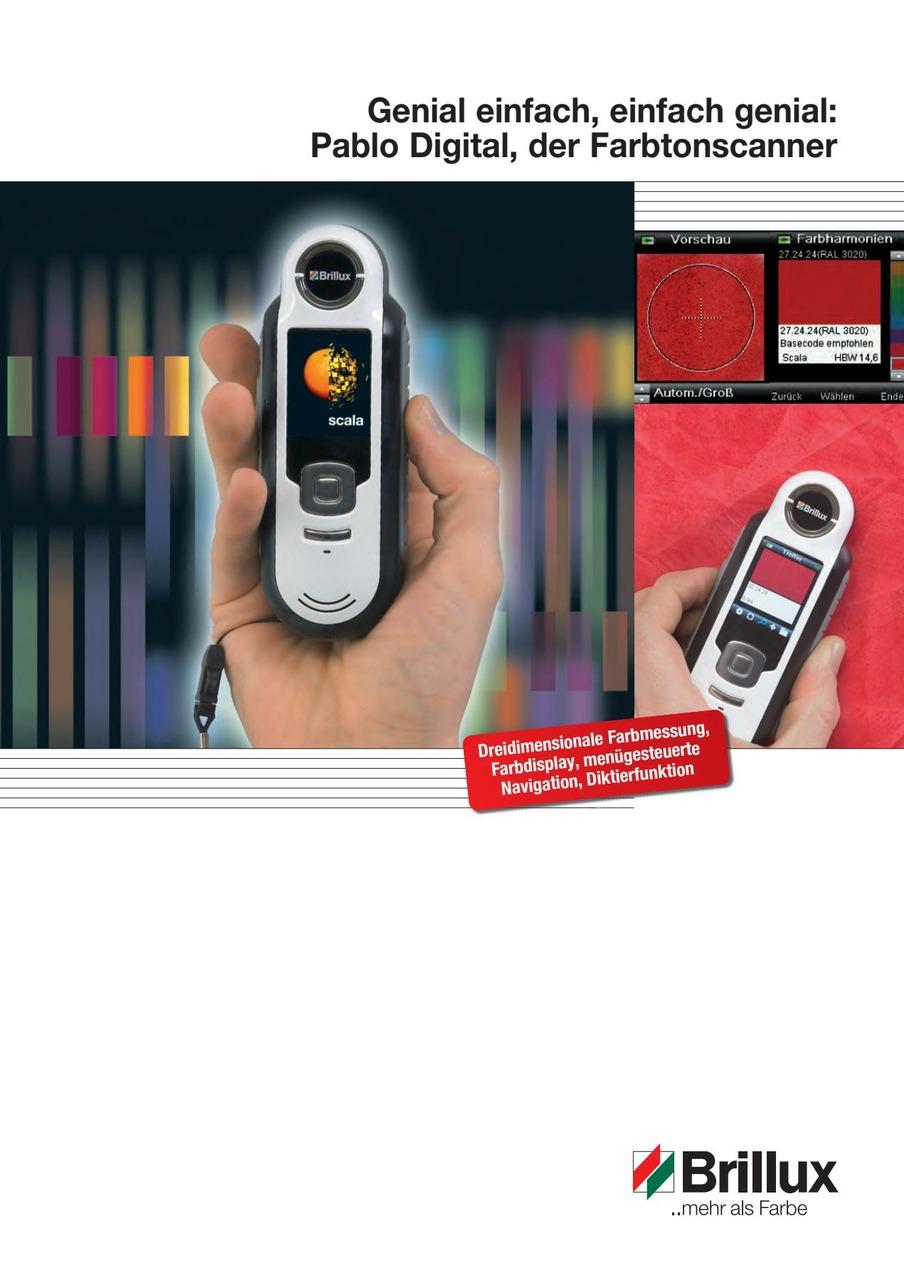 Der Farbtonscanner mit LED-Messtechnik auch für strukturierte Oberflächen.
