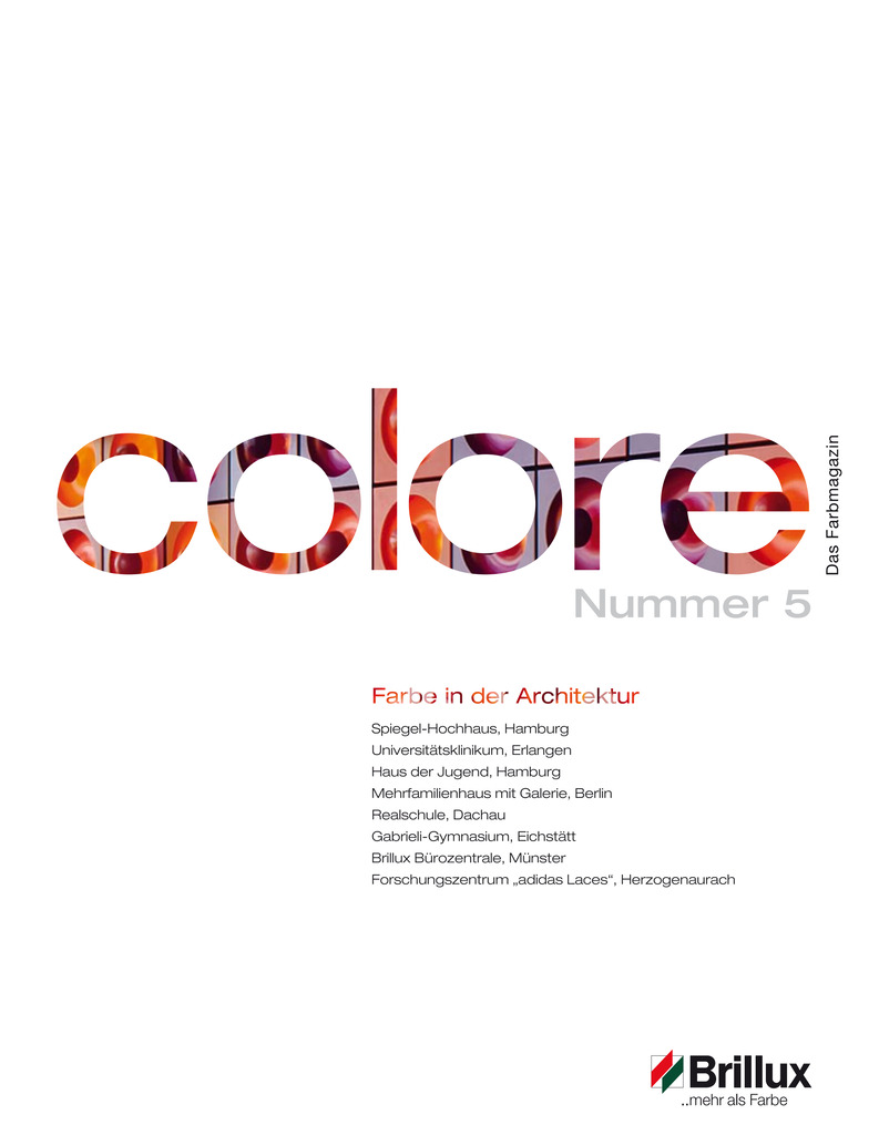 colore Nummer 05 | Das Farbmagazin 2012