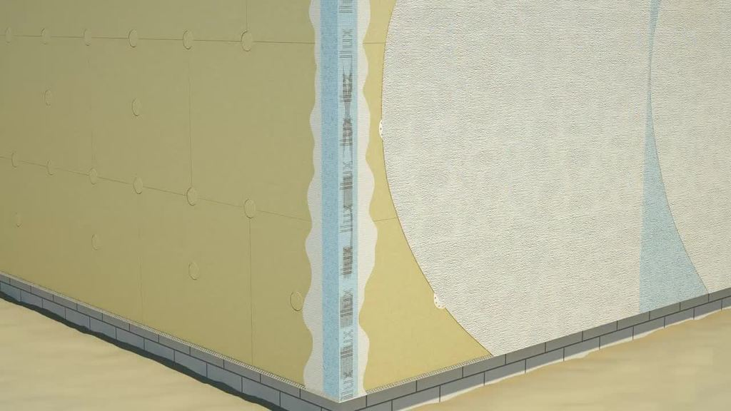 Wenn erhöhter Brandschutz gefordert ist, kommt das WDV-System III zum Einsatz. Also insbesondere bei Hochhäusern bis 100 m Höhe, aber auch für niedrigere Gebäude mit erhöhten Brandschutzauflage n, wie z. B. öffentliche Gebäude. WDVS Mineralwolle-Dämmplatten im Klebe- und Dübelverfahren. Nicht brennbar (A2) nach DIN 4102.