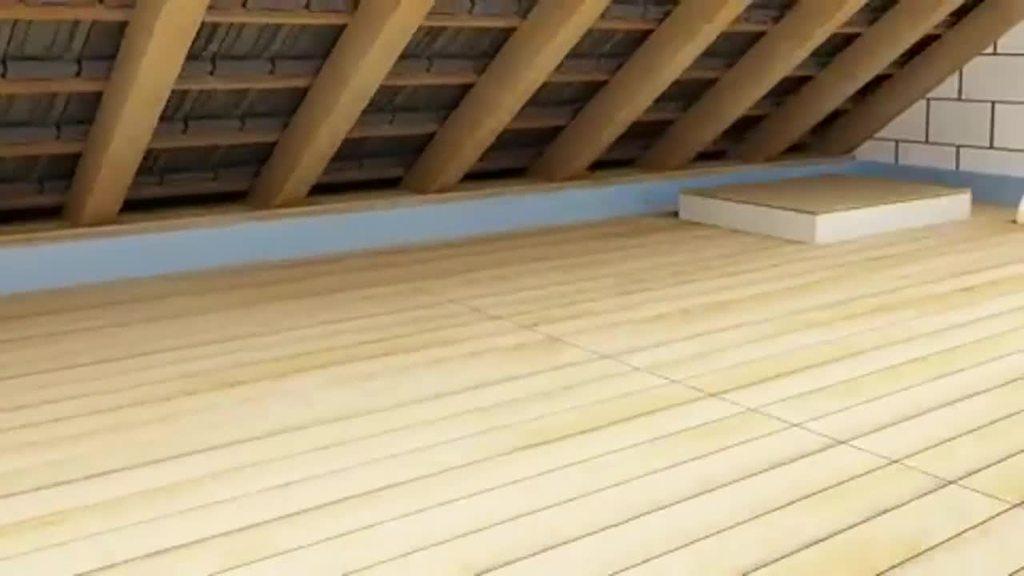 """Effektive Dämmung können hier die Brillux Dachboden-Dämmplatten 3817 bzw. 3818 leisten. Sie werden einfach und schnell auf dem Dachboden verlegt und stellen so die """"Wärmebrücke"""" kalt."""