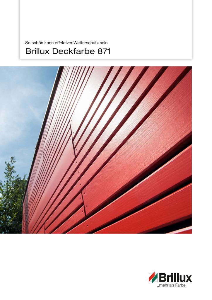 Vorstellung der Produktvorteile von Deckfarbe 871