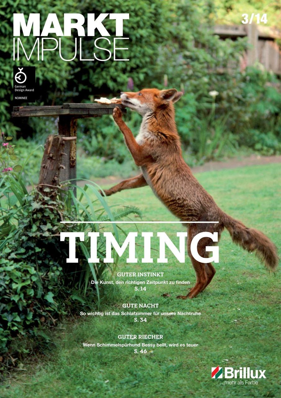 Das KundenClub-Magazin; Timing: Guter Instinkt, Gute Nacht und Guter Riecher