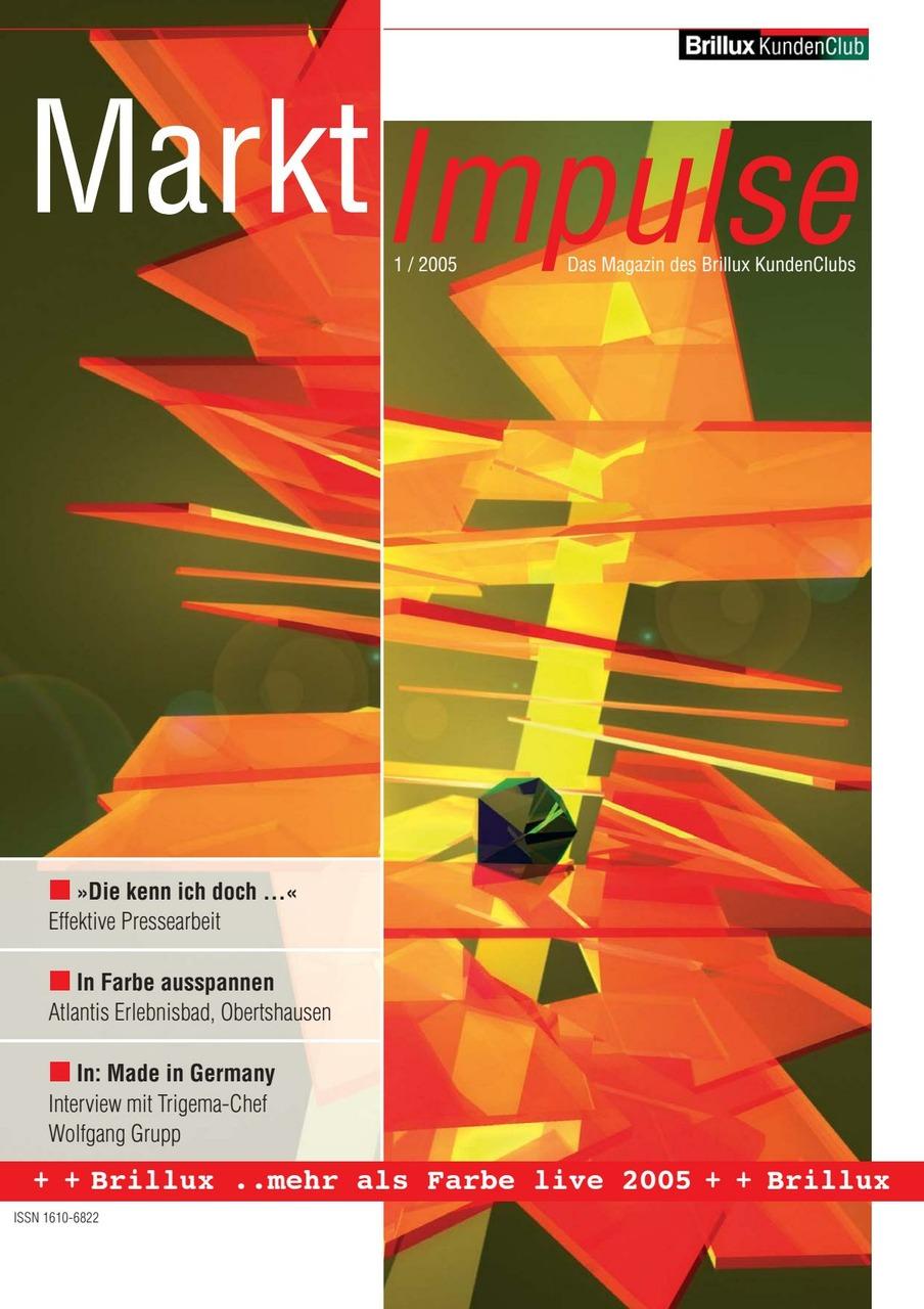 Das KundenClub-Magazin von Brillux.Marketingunterstützung, Reportagen, Interviews, Baustellenberichte
