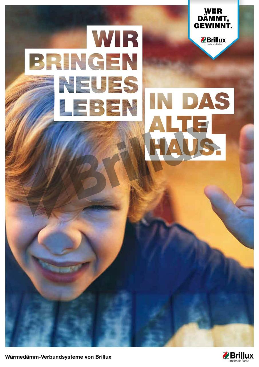 """In der Broschüre """"Wärmedämm-Verbundsysteme von Brillux"""" werden die fünf zentralen Vorteile für Hausbesitzer rund um WDVS anschaulich, verständlich und emotional dargestellt."""
