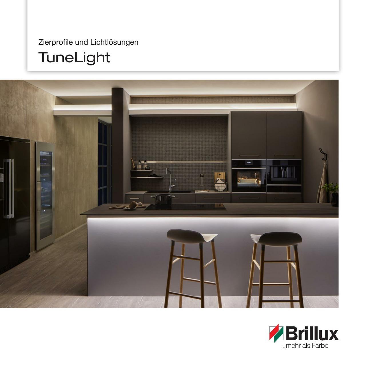 TuneLight Broschüre - Auflistung aller Komponenten des TuneLight LED-Systems sowie der passenden Zierprofile TL