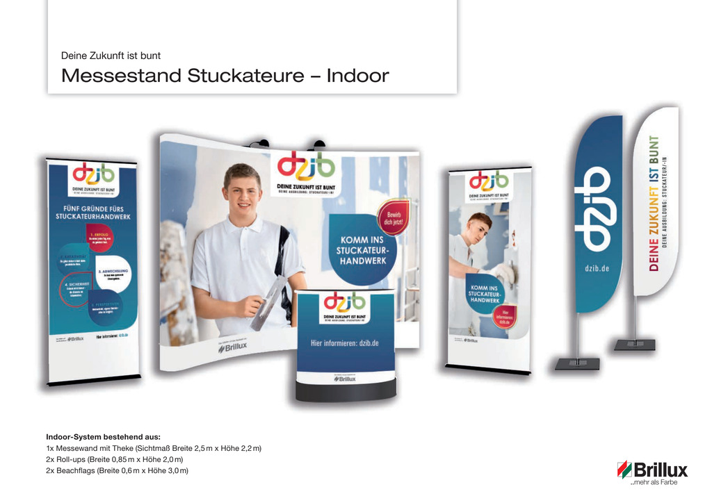 DZib Messestand Stuckateur Indoor