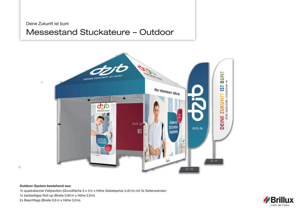 DZib Messestand Stuckateur Outdoor