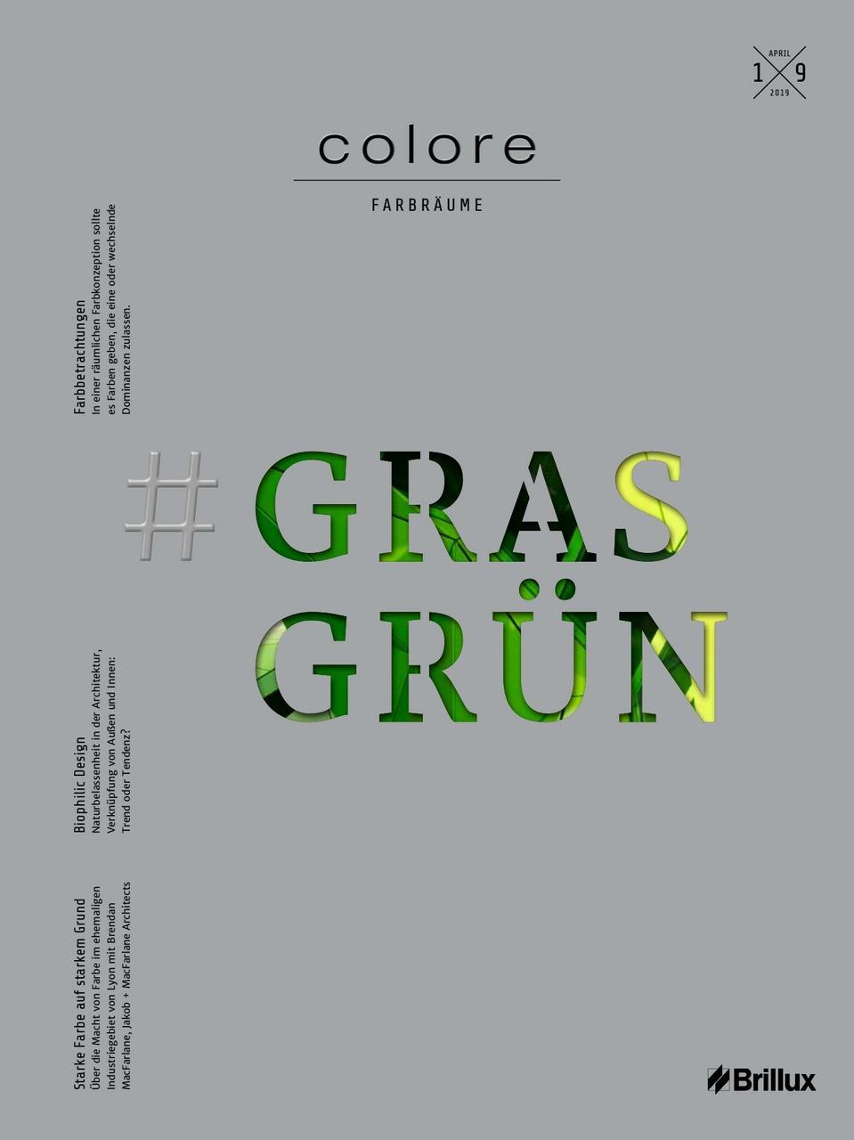 colore Nummer 19 grasgrün| Das Farbmagazin