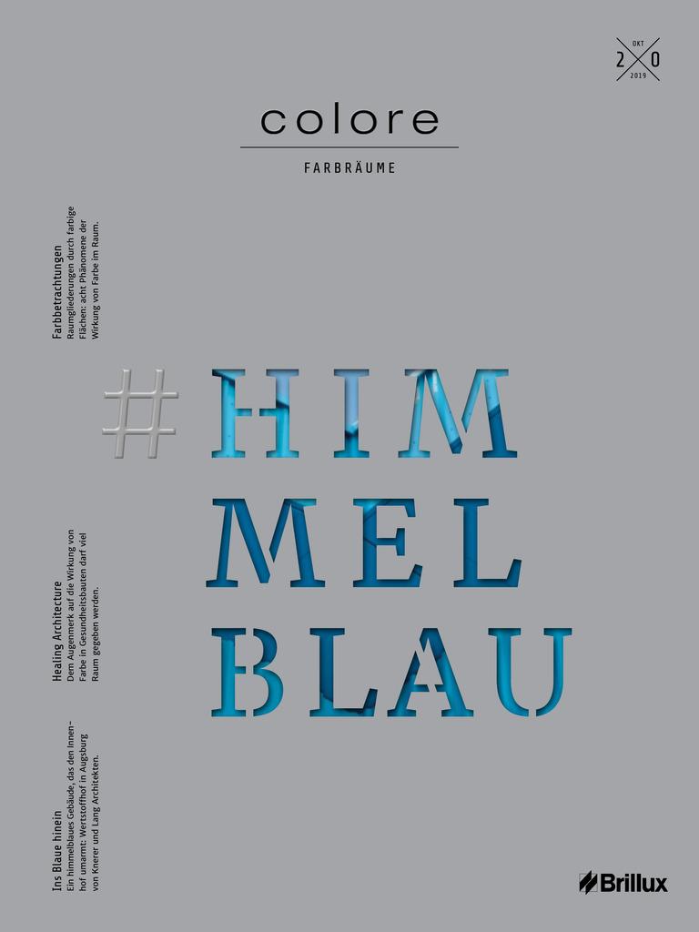 colore Nummer 20 himmelblau | Das Farbmagazin