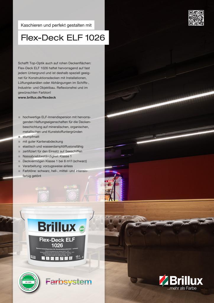 Produktinformationen zum neuen Flex-Deck ELF 1026