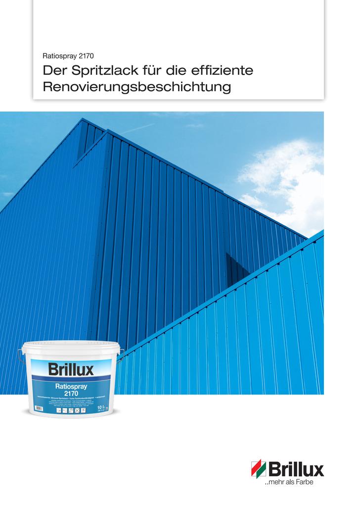 Ratiospray 2170 | Der Spritzlack für die effiziente Renovierungsbeschichtung