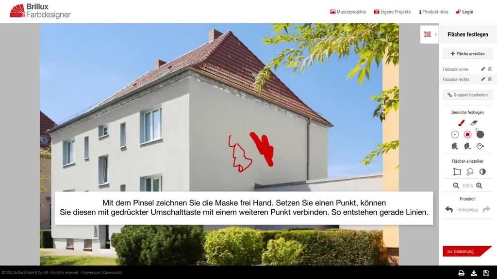 Anleitungsvideo für die Gestaltung eigener Fassaden-Fotos im Brillux Farbdesigner
