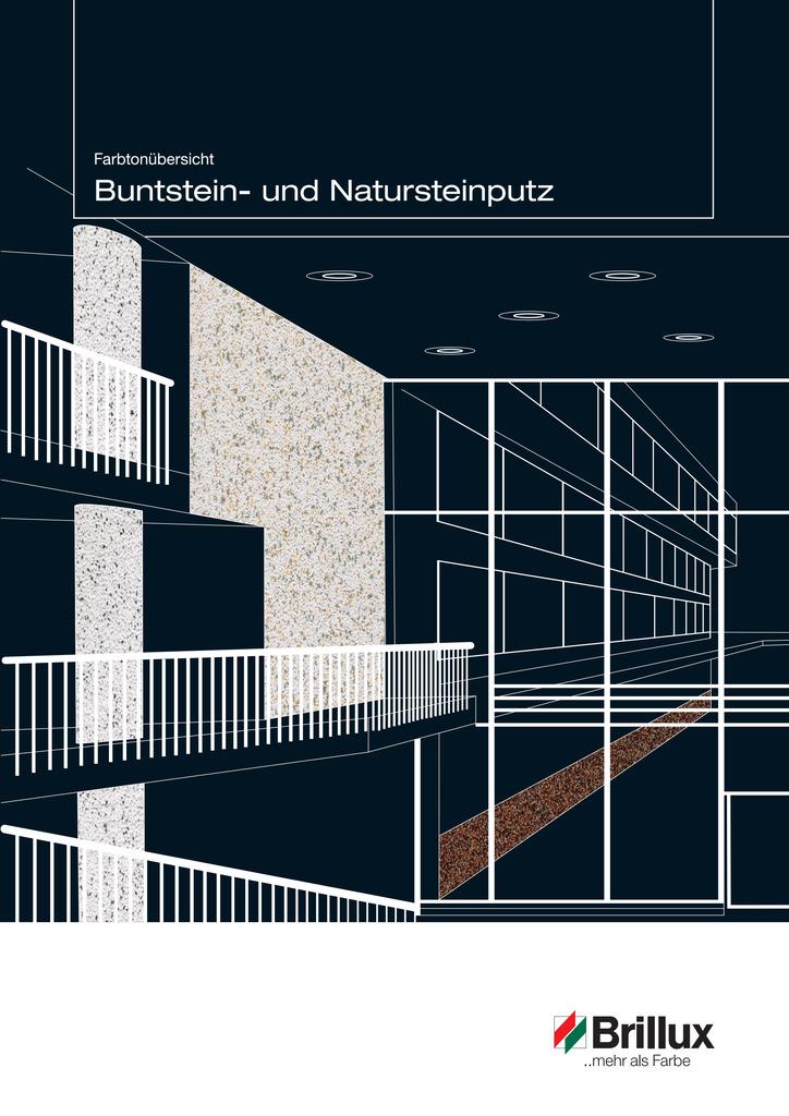 Farbtonübersicht Buntstein- und Natursteinputz Buntsteinputz 3552 (für außen) Natursteinputz ELF 3551 (für innen)