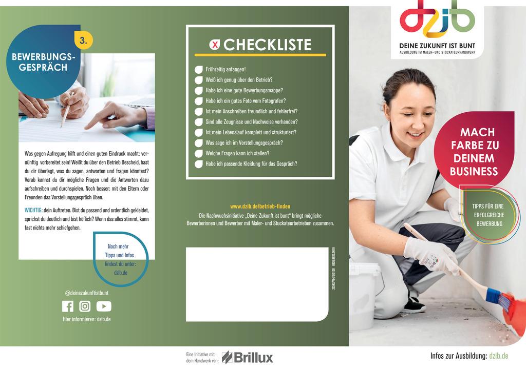 DZib Flyer Bewerbungstipps
