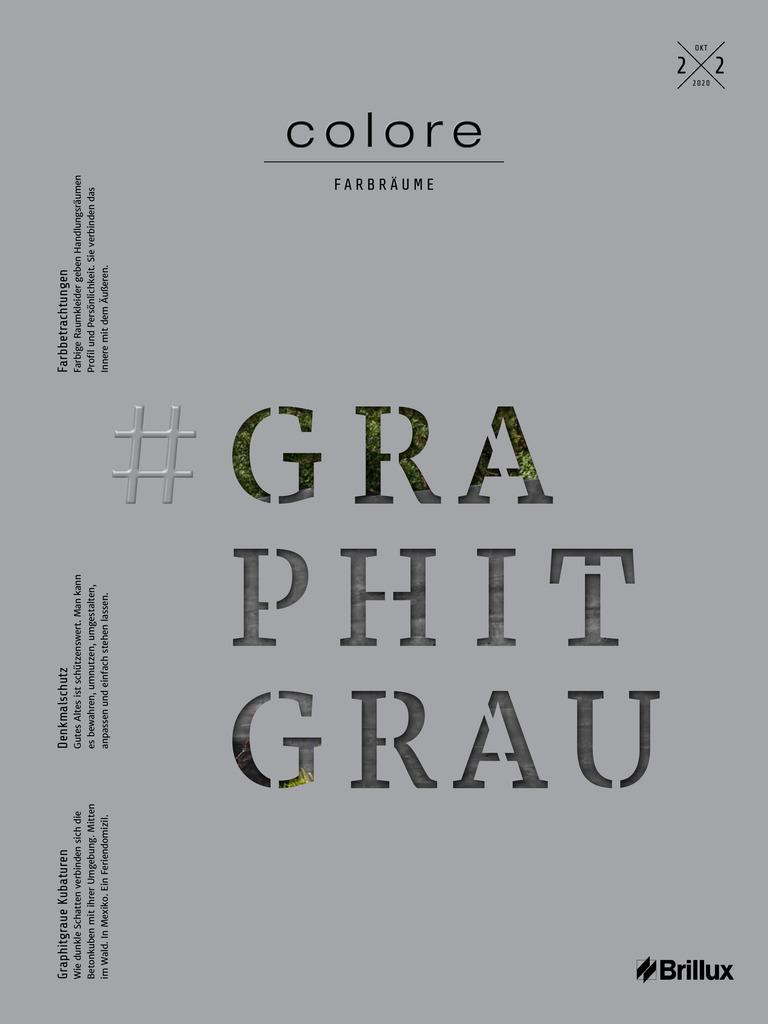 colore Nummer 22 graphitgrau | Das Farbmagazin