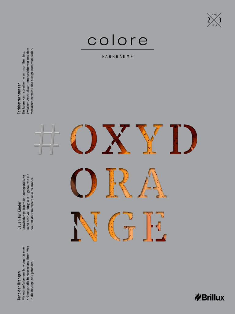 colore Nummer 23 oxydorange | Das Farbmagazin