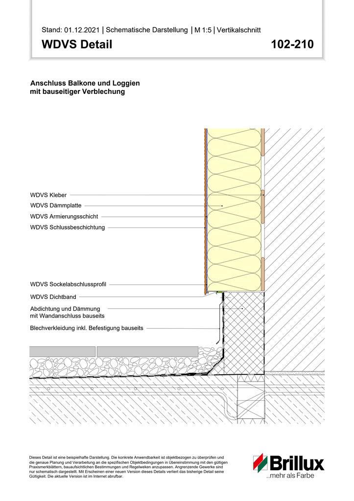 Unterer Anschluss bei z.B. Balkonen und Terrassen Sockel mit Sockelfliesen