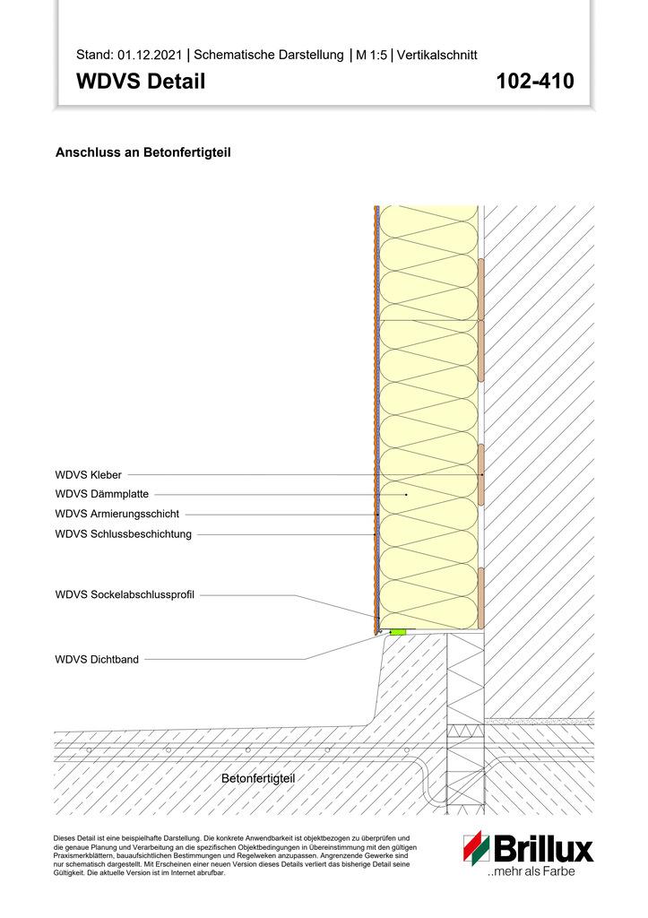 Anschluss an Balkon-Austrittsbank bei vorgesetzten Balkonen