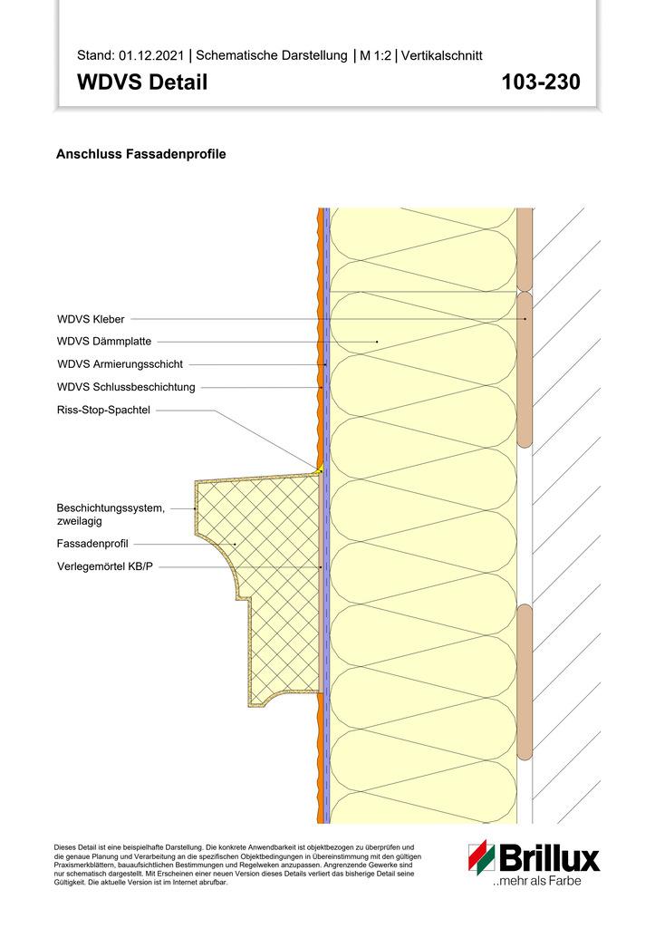 Vertikaler Systemabschluss an Gebäude-Aussenecken (Bestand)