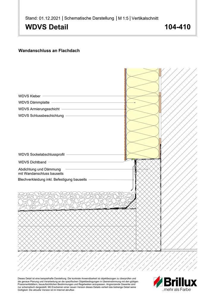 Unterer Systemanschluss an Pultdach - Sockelprofil -