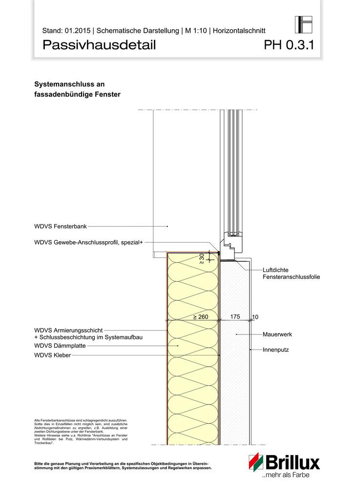 Sockelausbildung mit Anschluss an Bodenplatte.