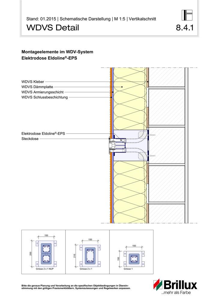 Montageelemente im WDV-System Elektrodose Eldoline®-EPS