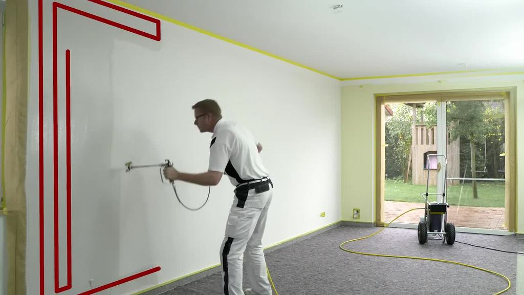 Low-overspray spraying works with practically any high-performance airless device: both in interior areas and on facades. The correct accessories are all it takes to make an existing spraying device suitable for low-overspray spraying. This means that all the advantages of this technology can be used with minimal costs.
