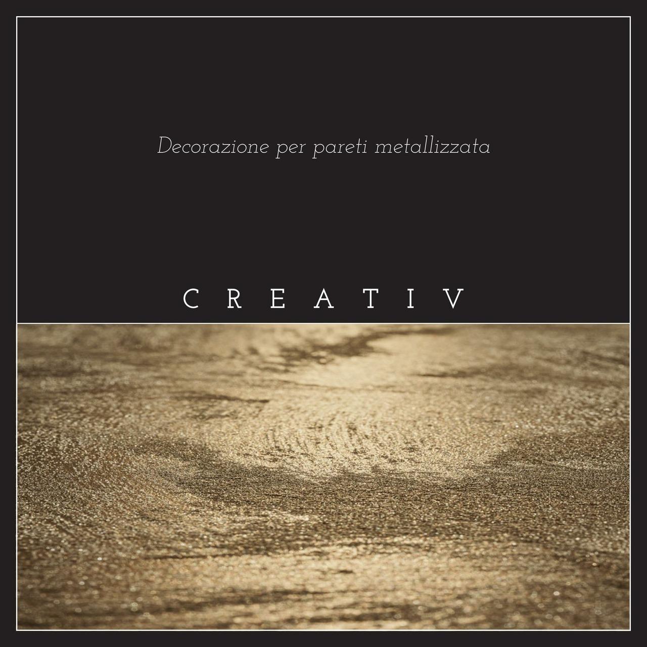 L'opuscolo speciale Creativ presenta con parole e immagini la decorazione metallizzata per pareti.