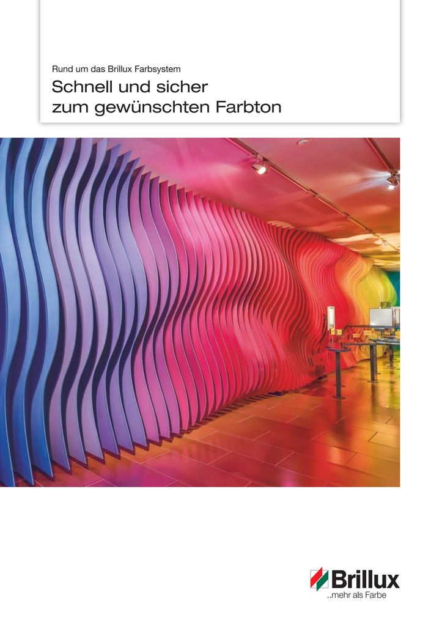 Die Broschüre zeigt Informationen zum Brillux Farbsystem.
