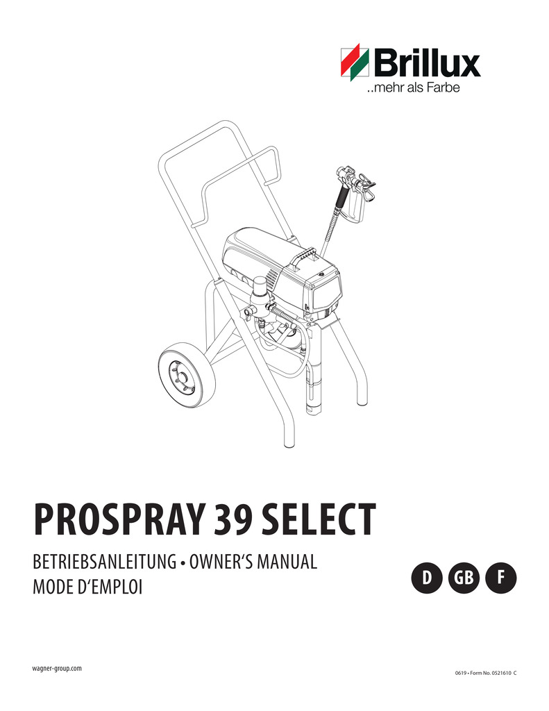 Bedienungsanleitung Kolbenpumpe PS 39 Select