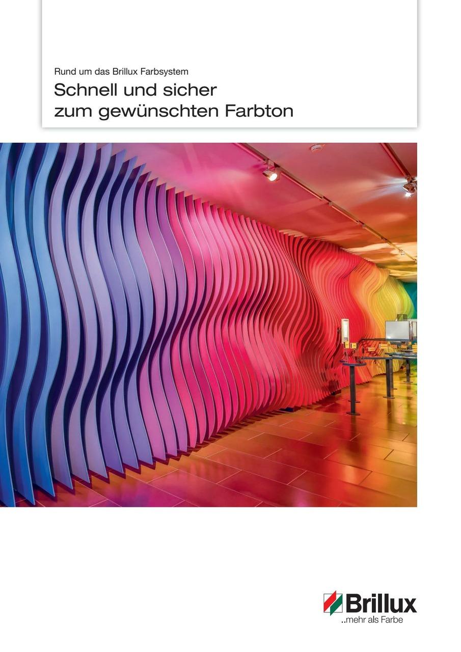 Die Broschüre informiert über das Brillux Farbsystem.