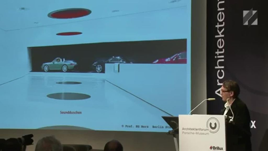 Architektur, Tragwerk und Innenraum im Porsche-Museum