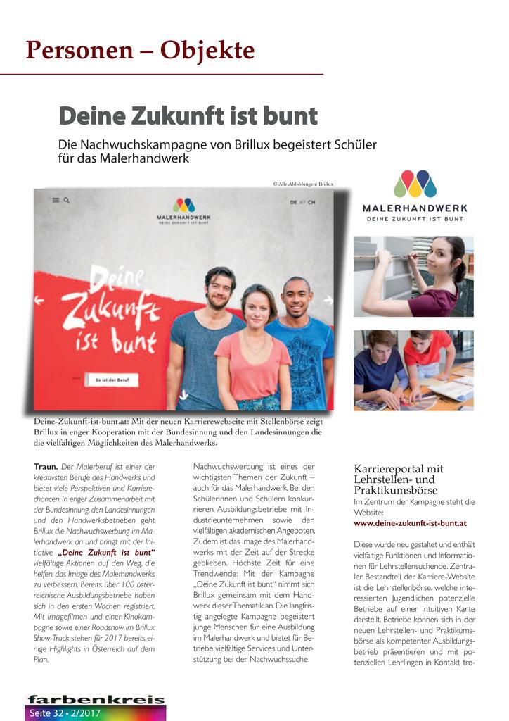 Deine Zukunft ist bunt - Die Nachwuchskampagne von Brillux begeistert Schüler für das Malerhandwerk