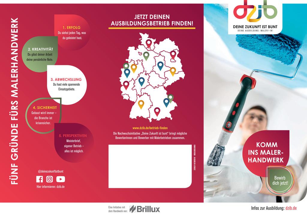 Informationen für Azubis Maler | Flyer