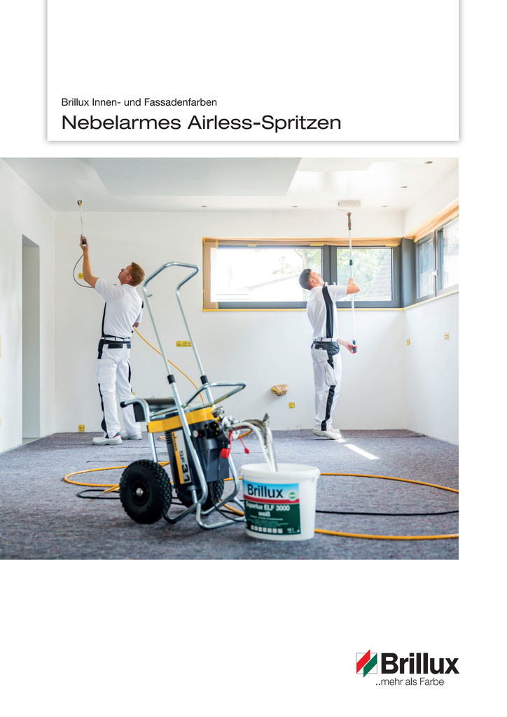 Nebelarmes Airless Spritzen | Prospekt