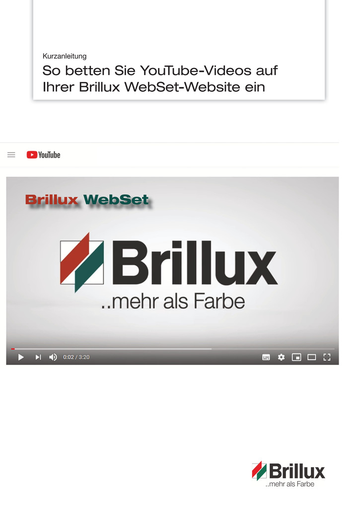Kurzanleitung: YouTube-Videos mit WebSet einbetten | Prospekt